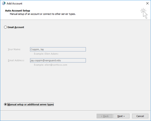 Adding A Secondary Email Account Profile To A Mail Client Vanguard University